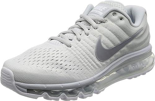 Nike Men's Air Max 2017 Running Shoes Pure Platinum 849559-009 (10 ...