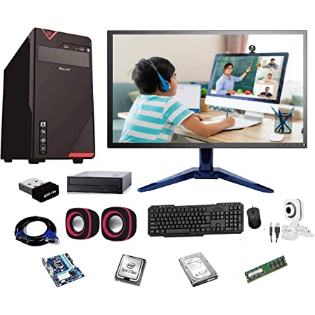 """Rolltop® Assembled Desktop Computer,Intel Core 2 Duo 3.0 GHZ Processor,G 41 Motherboard, 17"""" LED Monitor,4GB RAM, DVD,Windows 7 & Office Trial Version with Web Camera Mic Speaker 250GB"""
