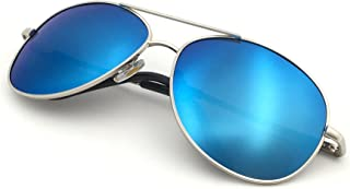 Premium Military Style Classic Aviator Sunglasses, Polarized, 100% UV protection