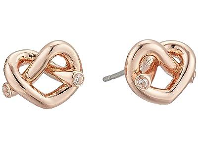 Kate Spade New York Loves Me Knot Studs Earrings (Rose Gold) Earring