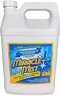 MiracleMist Instant Mold and Mildew Stain Remover for Indoor and Outdoor Use - Long Lasting Bathroom, Deck, Concrete, Vinyl, Tile Cleaner, 1 Gallon