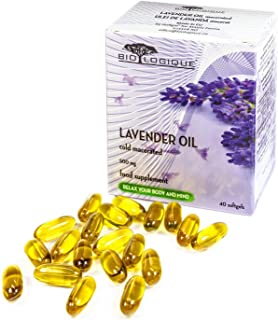 Lavender Pure Oil 500mg, Natural Stress and Anxiety Relief, comforting, Calming and ameliorates mild Sleep Disorders, 100%...