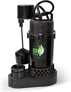 ECO-FLO Products SPP33V Thermoplastic Sump Pump with Vertical Switch, 1/3 HP, 3,600 GPH