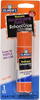Elmer's Washable School Glue Stick Disappearing Purple (.77 Ounce, Set of 6)