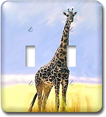 Single Toggle GIRAFFE Room Outlet Cover Outlet Cover Gift for GIRAFFE Lover Single Rocker GIRAFFE Custom Wall Plate GIRAFFE Wall Plate Cover TF85 GIRAFFE Graphics Wallplate