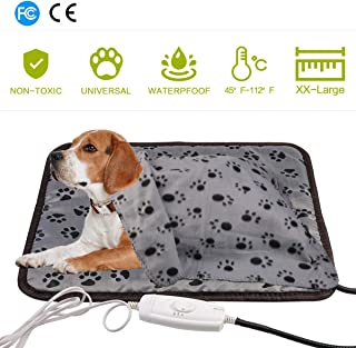 egosopp Pet Heating Pad Pet Bed Warmer Large Blanket for Dogs Cats Waterproof Electric Heat Mat with Chew Resistant Cord