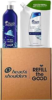 Head & Shoulders Shampoo Antiforfora Classic Clean, Kit con Bottiglia Ricaricabile senza plastica 430ml + Ricarica Sosteni...