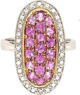 Anello in 0R0 18K Diamanti Naturali ZAFFIRI Rosa