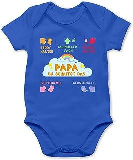 Shirtracer Papa du schaffst das bunt - Baby Body Kurzarm für Jungen und Mädchen