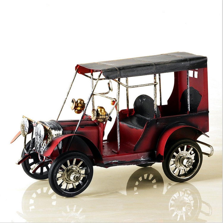 Vintage Iron Classic Car Decoration Creative Home Desktop Car Metal Model Decoration Crafts Gift,Black