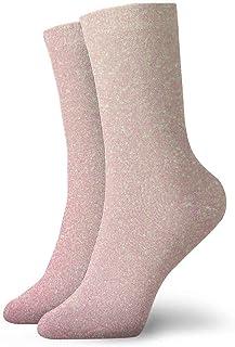tyui7, Pink Blue Green Glitter Calcetines de compresión antideslizantes Cosy Athletic 30cm Crew Calcetines para hombres, mujeres, niños