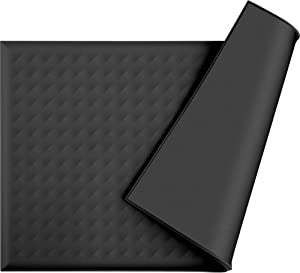 """GueXioXio Pet Food Mat, 19""""x12"""" Waterproof Silicone Placemat for Floors, Cat Dog Feeding Bowl Mats for Food and Water"""