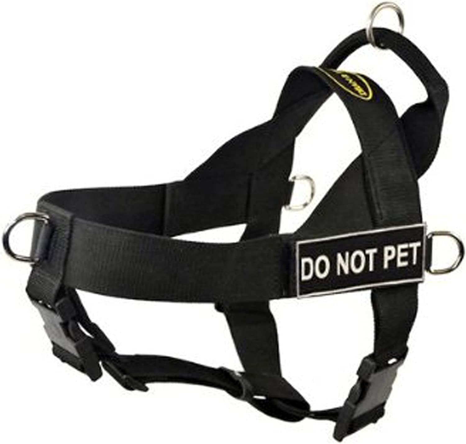 DT Universal No Pull Dog Harness, Do Not Pet, Black, XLarge  Fits Girth Size  91cm to 119cm