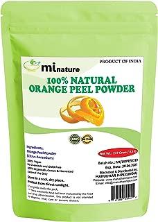 Orange Peel (Citrus Aurantium) Powder by mi nature - 227 g / 8 OZ / 1/2 lb | All Natural | Vegan | Non GMO | For Hair & Skin Care