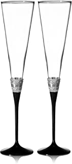 VERA WANG with Love Noir Toasting Flute Pair