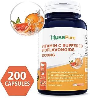 Premium Vitamin C 1030mg 200caps (Non-GMO & Gluten Free) with Bioflavonoids & Rose Hips, Supports Immune Health