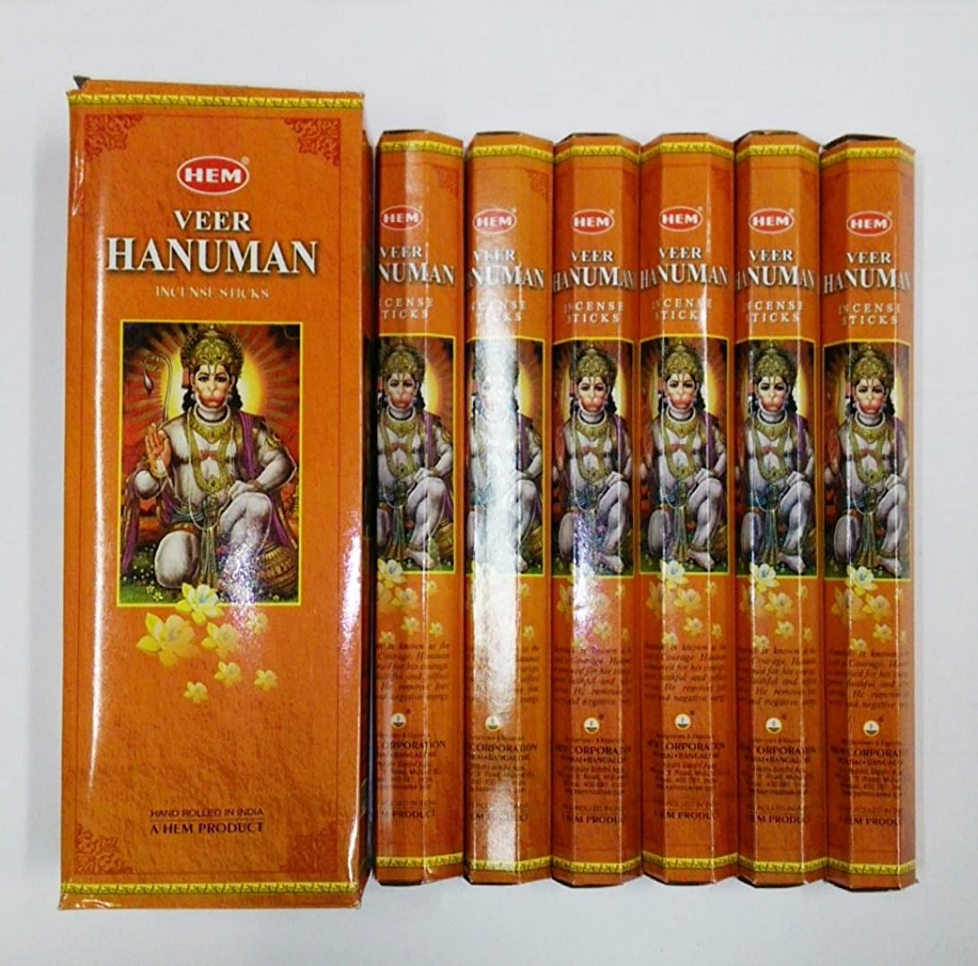 究極の劇作家ひいきにするHEM (ヘム) インセンス スティック へキサパック ハヌマーン ハヌマン香 6角(20本入)×6箱 [並行輸入品] Hanuman