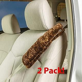 sheepskin seat belt pads