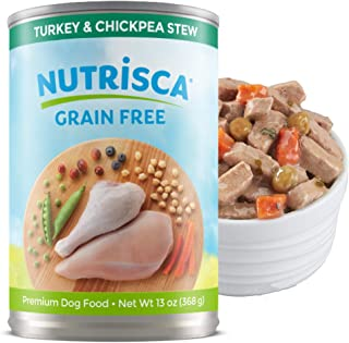 Nutrisca Premium Wet Dog Food, Grain Free Chunks of Hearty Meat, Savory Stew, 12 pack 13oz. Cans