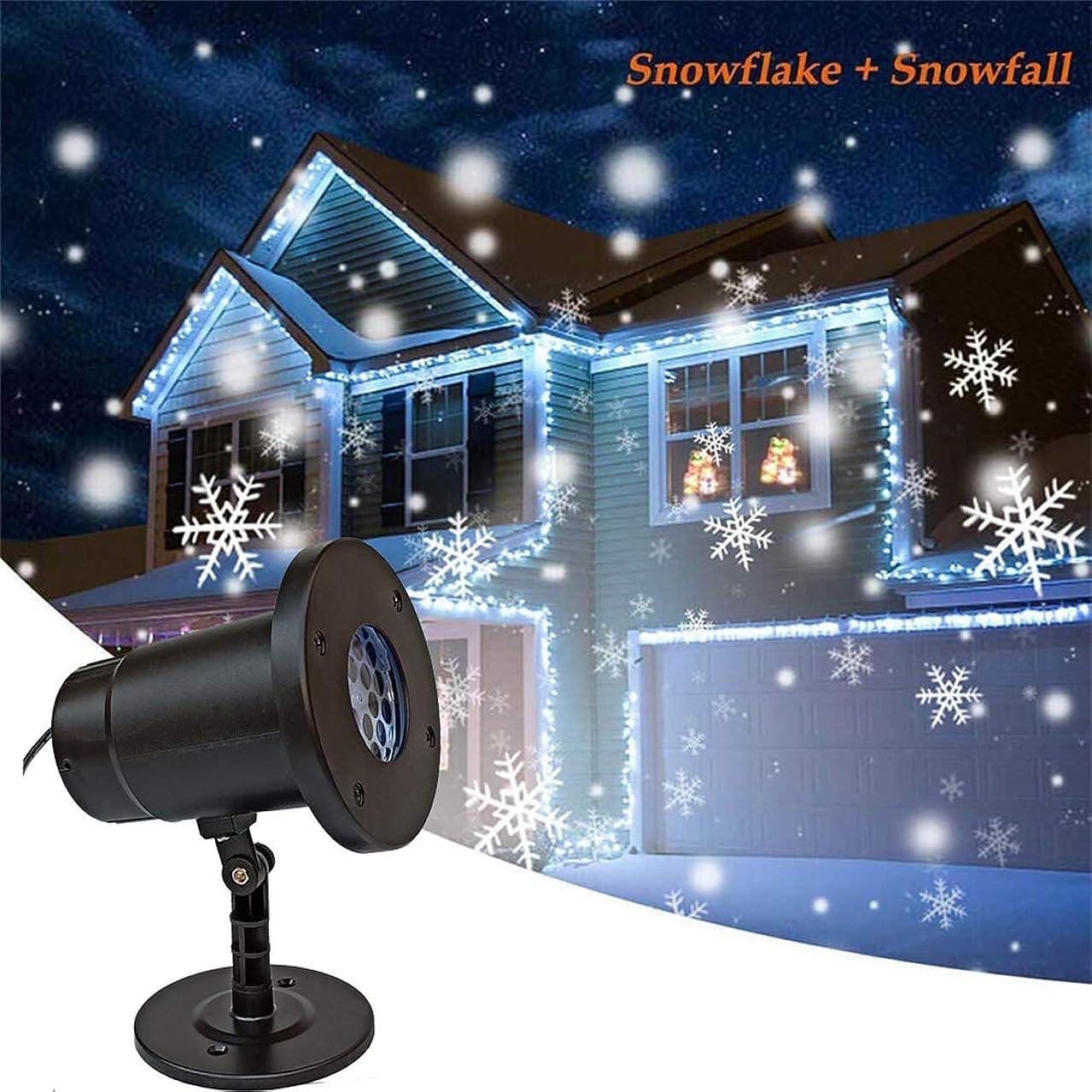 神経モンスター呪いLEDスノーフレークプロジェクションライト、リモートコントロール屋外防水芝生ランプ、ガーデングランドプラグライト、フェスティバルデコレーションランプ、110-240V