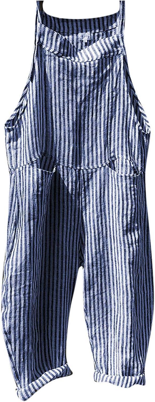 Women Department store Fashion Casual Stripe Pocket Long Romper Bandage Sleeveles Soldering