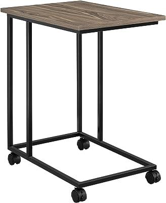 en.casa] Mesa portátil con Ruedas 50 x 35 x 60 cm Carrito Rodante para Computadora Estructura de Metal Color Nogal: Amazon.es: Hogar