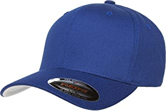 Blank V-Flexfit Cotton Twill Fitted Baseball Hat | Stretch Fit, Athletic Ballcap w/Hat Liner