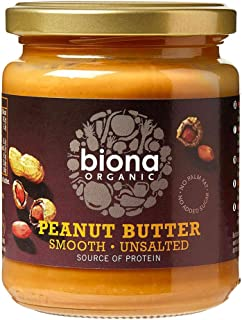 Biona Organic Peanut Butter Smooth - Unsalted, 250 g