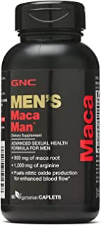GNC Maca Man, Maca Root Arginine for Enhanced Blood Flow - 60 Vegetarian Capsules