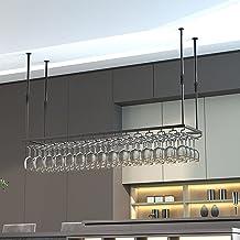 Verstelbare Plafondbar Wijnglasrek, Industrieel Hangend Wijnrek Voor Display, Opslag En Decor, Voor Keuken/woonkamer/bar, ...