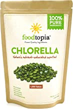 100% Pure Chlorella Vulgaris Tablets (270g / Approx. 1350 Tablets) Raw, Non-GMO. Chewable Green Superfood Supplement. High Protein, Chlorophyll & nucleic acids. No preservatives/fillers. Month sup