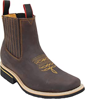 Western Shops Mens Short Ankle Western Rodeo Cowboy Boots