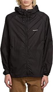 Men's Stone Lightweight Hooded Windbreaker Jacket