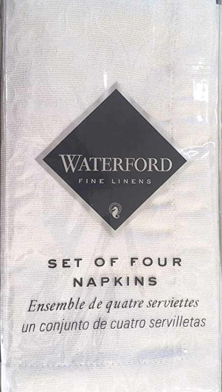 Waterford Fine Linens Acadia Shimmer Pearl Napkins Set Of 4