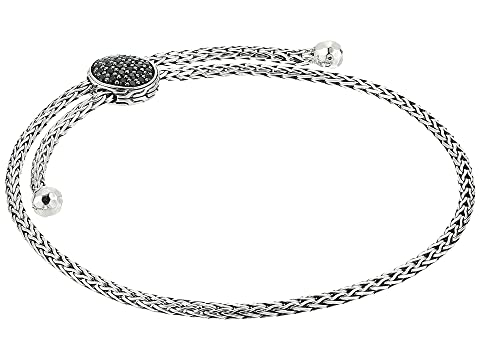 John Hardy Classic Chain Pull Through Bracelet with Black Sapphire and Black Spinel