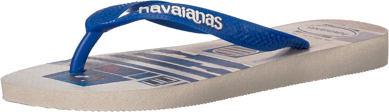 Havaianas Women's Wars Sandal White bluee Star