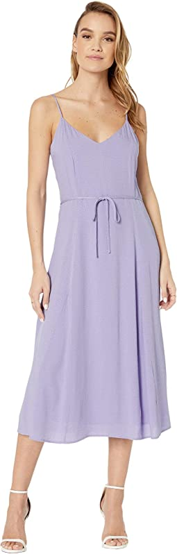 Figueroa Dotted Rayon Jacquard Midi Dress