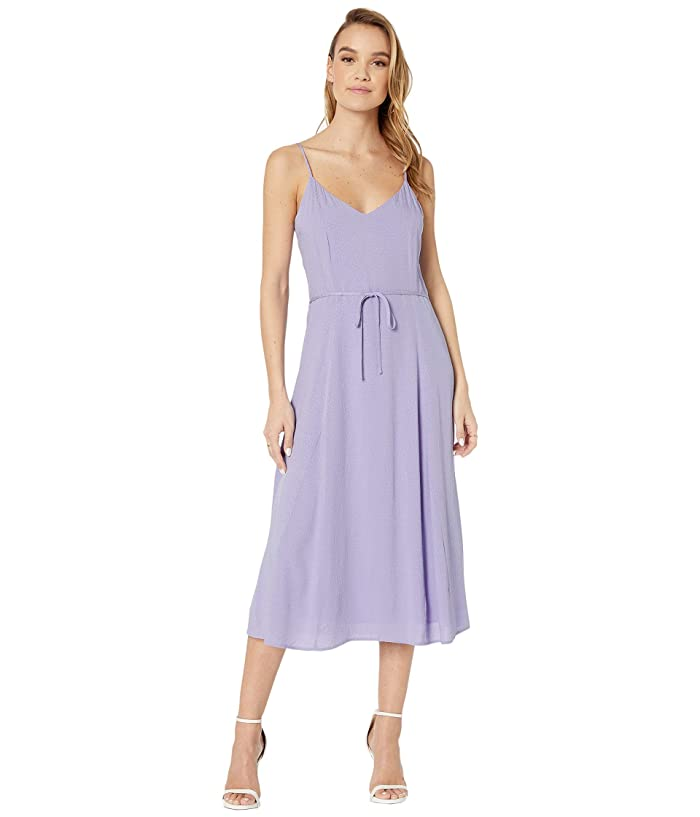 Cupcakes and Cashmere  Figueroa Dotted Rayon Jacquard Midi Dress (Violet Tulip) Womens Dress