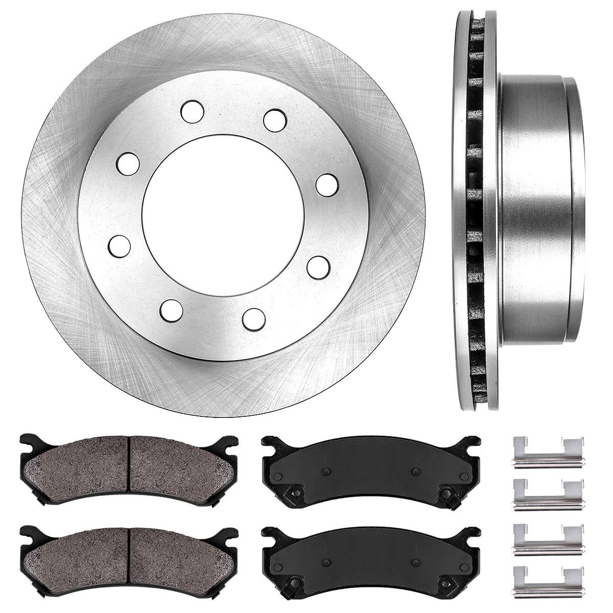 See Desc OE Replacement Rotors w//Ceramic Pads F+R 2000 GMC Sierra 2500