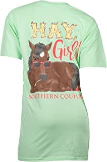 Southern Couture SC Classic Hay Girl Horse Youth Sizes Classic Fit T-Shirt - Mint Green