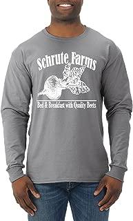 Schrute Farms | Mens Pop Culture Long Sleeve T-Shirt