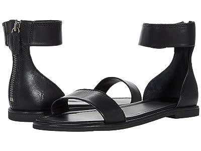 Frye Tait Ankle Zip (Black Vintage Veg Tan) Women