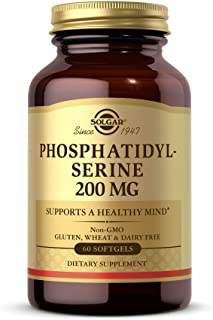 Solgar Phosphatidyl-Serine 200 mg, 60 Softgels - Premium Brain Health Supplement, Supports a Healthy Mind & Cognitive Func...