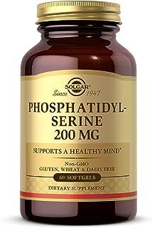 Solgar Phosphatidyl-Serine 200 mg, 60 Softgels - Premium Brain Health Supplement, Supports a Healthy Mind & Cognitive Func...