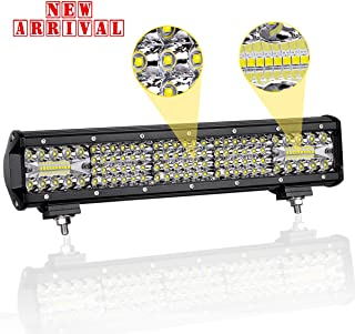 LED Light Bar Swatow Industries 15 Inch Quad Row Off Road Light Bar Driving Light Fog Light Osram Triple Row Spot Flood Combo LED Work Light for Truck Offroad 4x4 ATV UTV Boat - 2 Years Warranty