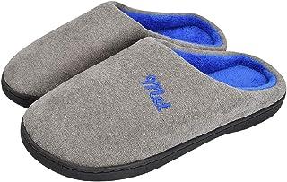 Tuopuda Zapatillas de Estar por Casa Hombre Invierno Zapatillas Casa Mujer Lana Calido Cómodas Suave Flat Slipper Ultralig...