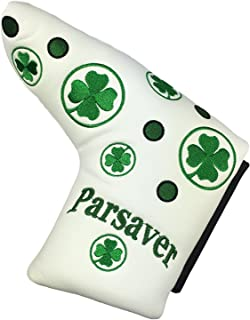 Parsaver Shamrock Clover Replacement Putter Headcover Lucky Four Leaf Covers Compatible with Scotty Cameron Odyssey Taylormade Titleist Ping and Mizuno Putters