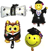 Monkey Home Balones de la hoja de la graduación Doctor / muchacho / diploma / forma sonriente de la cara hincha 16Inch 4pcs para la ceremonia de graduación del partido
