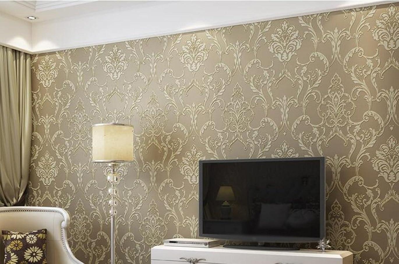 接辞浜辺失態YSYYSH 壁紙ヨーロッパのリアルヤーン不織布グリーン壁紙リビングルームテレビ背景壁 壁ステッカー壁画 (Color : #2)