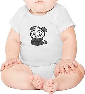 Artisfive Cropped Opem Cute Oh Panda Eyes Unisex Baby Onesies Infant Bodysuit